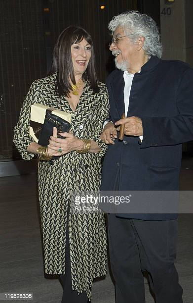 Anjelica Huston and guest during Anjelica Huston Sighting in New York City at Streets of Manhattan in New York City NY United States