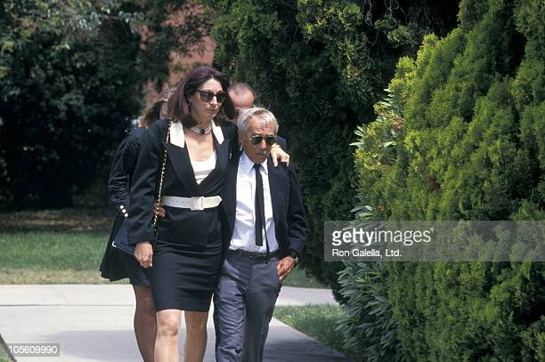 Anjelica Huston and guest during John Huston Memorial Service August 31 1987 at Hollywood Memorial Park in Hollywood California United States
