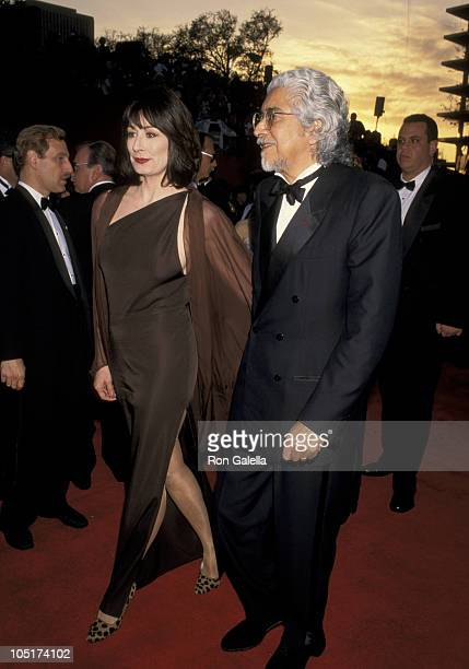 Anjelica Huston and Husband Robert Graham during The 68th Annual Academy Awards at Dorothy Chandler Pavilion in Los Angeles California United States