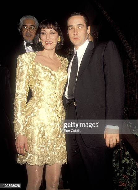 Anjelica Huston and John Cusack during 48th Annual Golden Globe Awards at Beverly Hilton Hotel in Beverly Hills California United States
