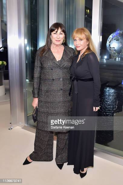 Anjelica Huston and Rebecca De Mornay attend the UCLA IoES honors Barbra Streisand and Gisele Bundchen at the 2019 Hollywood for Science Gala on...
