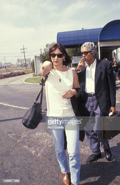 Anjelica Huston and Robert Graham during Anjelica Huston Sighting at the Los Angeles International Airport September 17 1991 at Los Angeles...