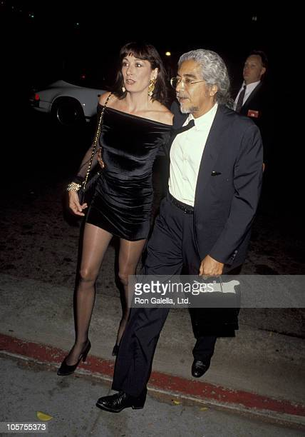 Anjelica Huston and Robert Graham during 'Commitment To Life IV' Los Angeles AIDS Project Benefit September 7 1990 at The Wiltern Theater in Los...