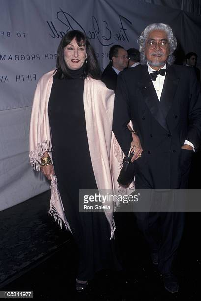 Anjelica Huston and Robert Graham during 'Reservoir Dogs' Los Angeles Premiere at Galaxy Theater in Hollywood California United States