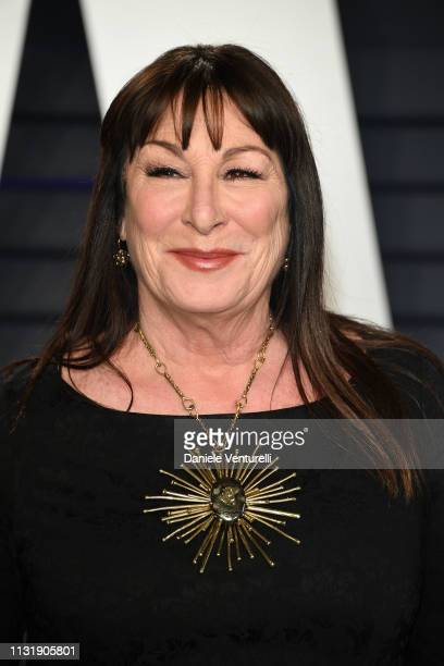 Anjelica Huston attends 2019 Vanity Fair Oscar Party Hosted By Radhika Jones at Wallis Annenberg Center for the Performing Arts on February 24 2019...