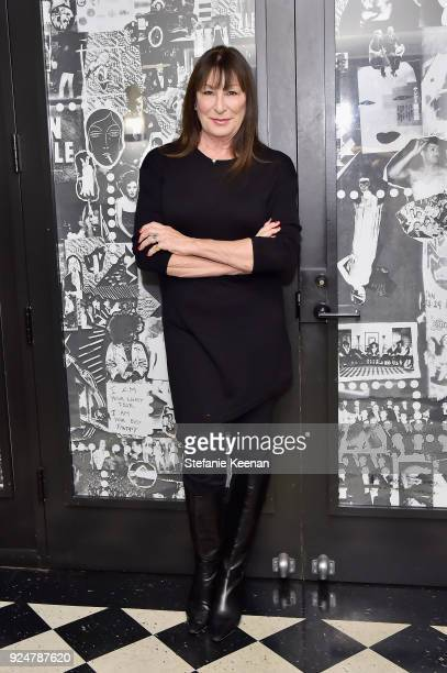 Anjelica Huston attends NETAPORTER and MR PORTER partner with Letters Live on February 26 2018 in Los Angeles California