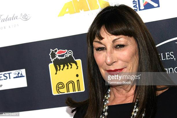 Anjelica Huston attends the 9th Annual LA Italia Film fashion and art's festival closing night awards ceremony held at the TCL Chinese Theatre on...