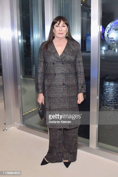 Anjelica Huston attends the UCLA IoES honors Barbra Streisand and Gisele Bundchen at the 2019 Hollywood for Science Gala on February 21 2019 in...