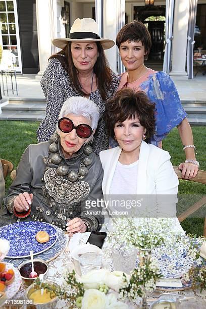 Anjelica Huston Cassandra Huysentruyt Grey Iris Apfel and Carole Bayer Sager attend VIOLET GREY's She's So Violet Garden Tea honoring Iris Apfel on...