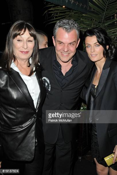 Anjelica Huston, Danny Huston and Lyne Renee attend CHANEL and CHARLES FINCH Host a Pre-Oscar Dinner Celebrating Film And Fashion at Madeo's on March...