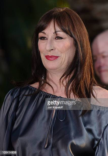 Anjelica Huston during 2005 Vanity Fair Oscar Party at Mortons in Los Angeles California United States