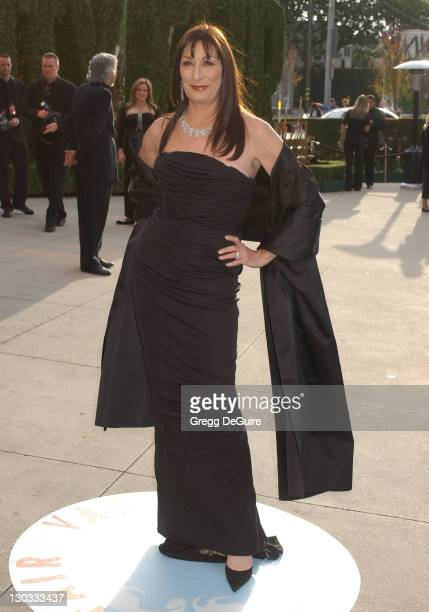 Anjelica Huston during 2006 Vanity Fair Oscar Party Hosted by Graydon Carter Arrivals at Morton's in West Hollywood California United States