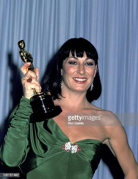 Anjelica Huston during 58th Annual Academy Awards at Dorothy Chandler Pavillion in Los Angeles CA United States