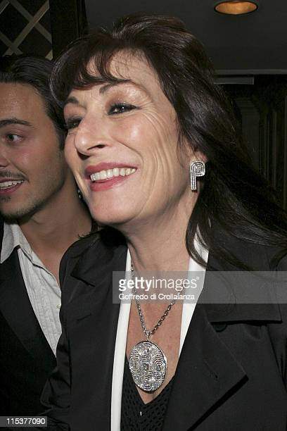 Anjelica Huston during BAFTA Film Awards 2005 After Party at Grosvenor House Hotel in London United Kingdom