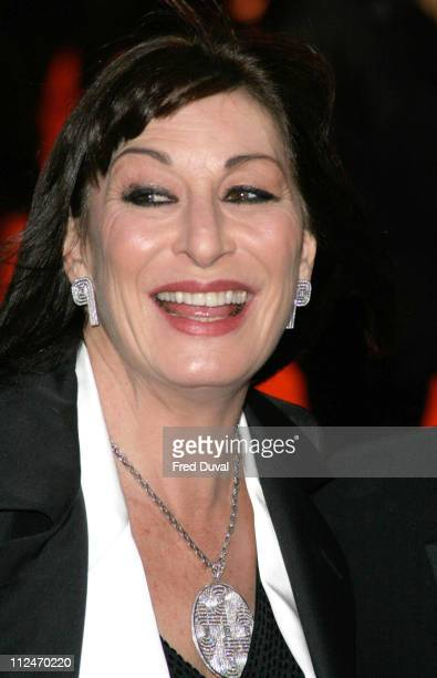 Anjelica Huston during BAFTA Film Awards 2005 Arrivals at The Odeon Leicester Square in London United Kingdom