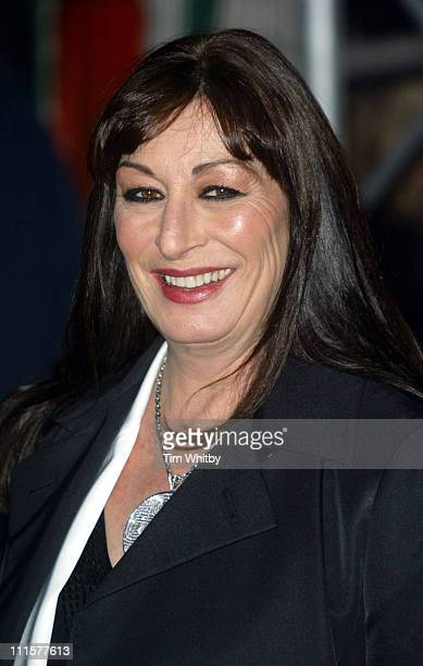 Anjelica Huston during BAFTA Film Awards 2005 Outside Arrivals at Leicester Square in London Great Britain