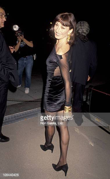 Anjelica Huston during 'Commitment To Life IV' Los Angeles AIDS Project Benefit September 7 1990 at The Wiltern Theater in Los Angeles California...