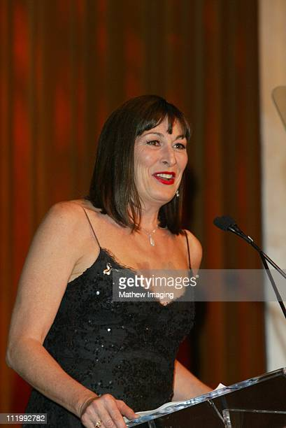 Anjelica Huston during Costume Designers Guild Awards at Regent Beverly Wilshire Hotel in Beverly Hills CA United States