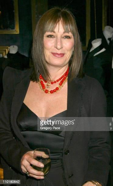 Anjelica Huston during Donna Karan 'Black Cashmere' Launch in New York City New York United States