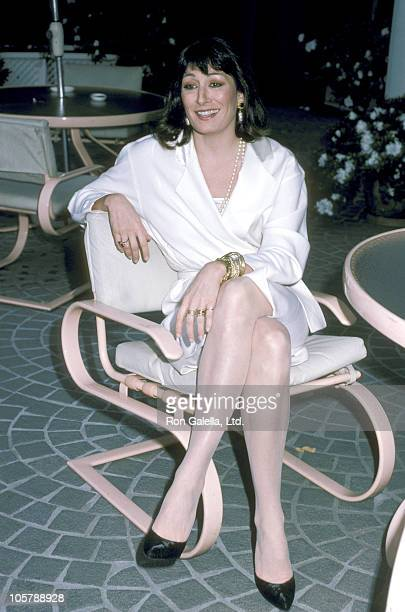 Anjelica Huston during Film Critics Awards Luncheon January 23 1986 at Westwood Marhis Hotel in Los Angeles California United States