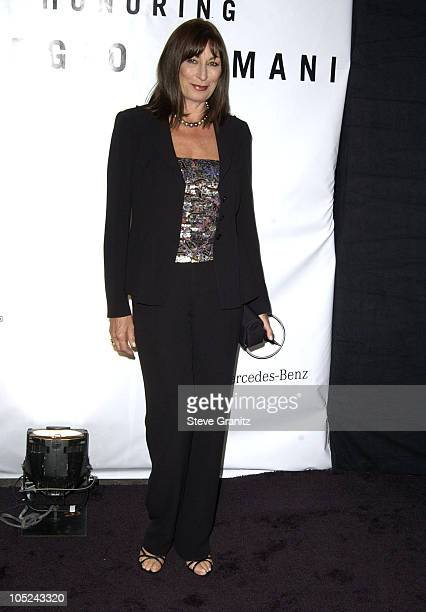 Anjelica Huston during Giorgio Armani Receives First Rodeo Drive Walk Of Style Award at Rodeo Drive in Beverly Hills California United States