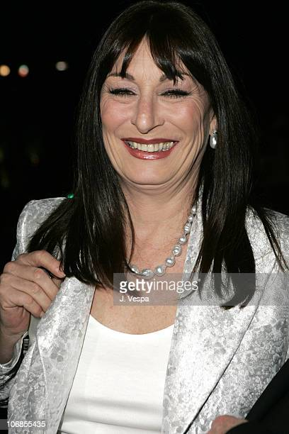 Anjelica Huston during Herb Ritts and Mario Testino Receive Rodeo Drive Walk of Style Award Red Carpet at Rodeo Drive in Beverly Hills California...