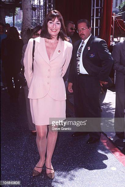 Anjelica Huston during Humphrey Bogart Postage Stamp Premieres at Mann Chinese Theatre in Hollywood California United States