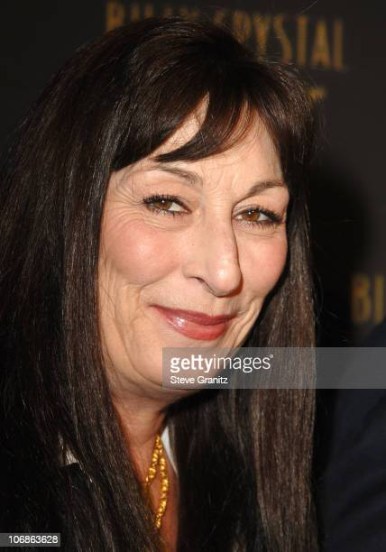 """Anjelica Huston during Los Angeles Opening Night of The Tony Award Winning Broadway Show Billy Crystal """"700 Sundays"""" at Wilshire Theatre in Beverly..."""