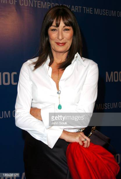 Anjelica Huston during MOCA Celebrates 25 Years Of Groundbreaking Art Achievements Red Carpet at MOCA at The Geffen Contemporary in Los Angeles...