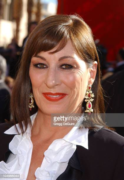 Anjelica Huston during The 54th Annual Primetime Emmy Awards Arrivals at The Shrine Auditorium in Los Angeles California United States