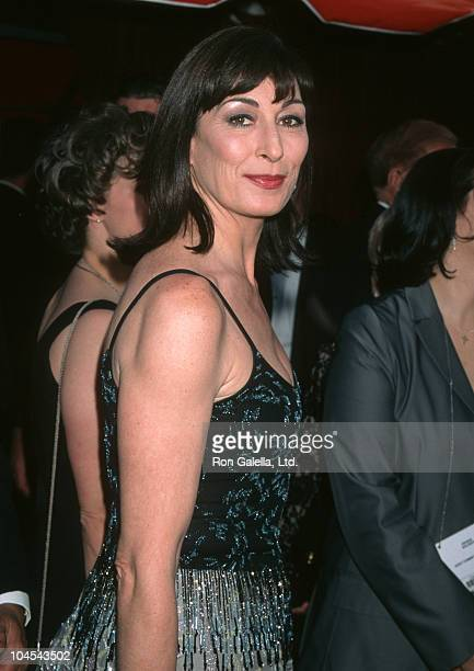 Anjelica Huston during The 70th Annual Academy Awards Red Carpet at Shrine Auditorium in Los Angeles California United States