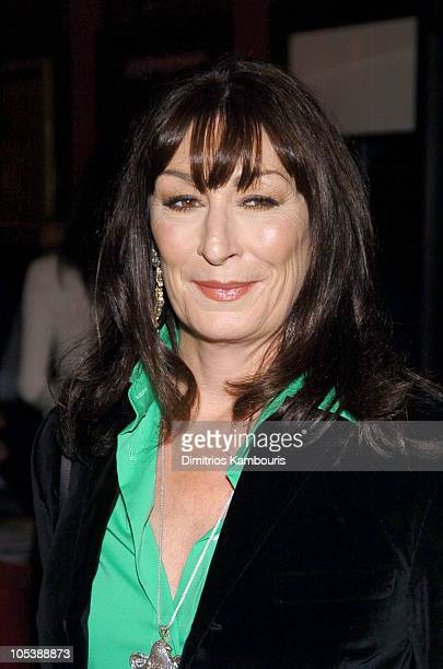 """Anjelica Huston during """"The Life Aquatic with Steve Zissou"""" New York Premiere - Inside Arrivals at Ziegfeld Theater in New York City, New York,..."""