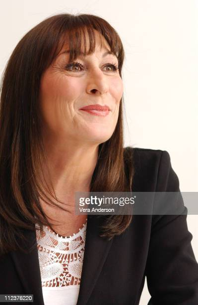 Anjelica Huston during 'The Life Aquatic with Steve Zissou' Press Conference with Bill Murray Anjelica Huston Jeff Goldblum Owen Wilson Wes Anderson...