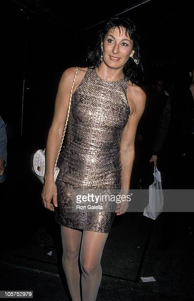 Anjelica Huston during Vanity Fair Magazine's 'Just Say Yes' Benefit for The Phoenix House at Culver Studios in Culver City California United States