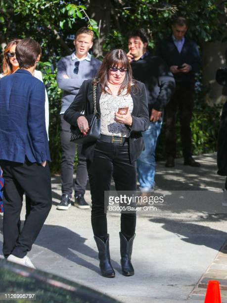 Anjelica Huston is seen on February 23 2019 in Los Angeles California