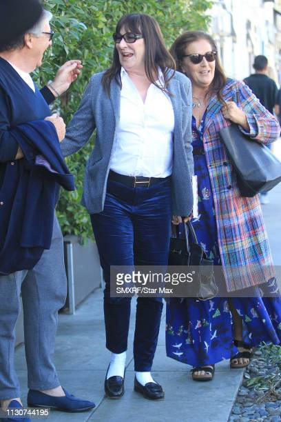 Anjelica Huston is seen on March 14 2019 in Los Angeles California