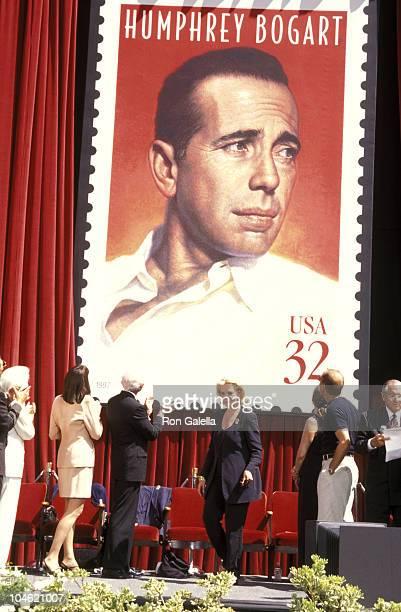 Anjelica Huston Lauren Bacall Steven Bogart Leslie Bogart Marnin Runyon and Tirso Del Junco