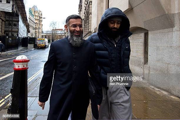 Anjem Choudary arrives at The Old Bailey on January 14 2016 in London England Anjem Choudary is accused alongside Mohammed Rahman of inviting support...