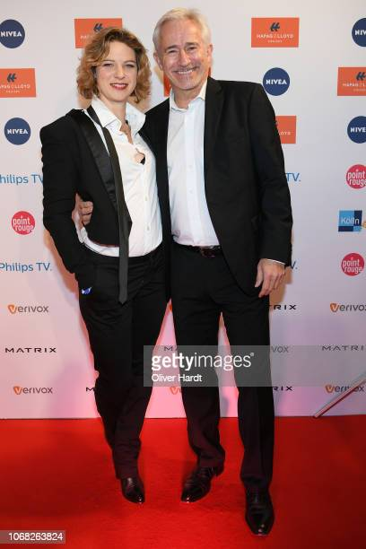 Anjorka Strechel and Gerry Hungbauer attends the Movie Meets Media night at Grand Elysee Hamburg on December 3 2018 in Hamburg Germany