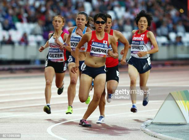 Anju Furuya of Japen compete Women's 800m T20 Final during World Para Athletics Championships at London Stadium in London on July 23 2017