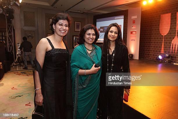 Anjum Chopra and Shikha Sharma during 'HT City Crystals Awards 2012' to raise a toast to the winners of the Food Oscars at the Nandiya Gardens ITC...