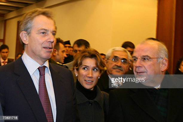 British Prime Minister Tony Blair arrives in Ankara 15 December 2006 on the first leg of a Middle East tour designed to advance the stalled...