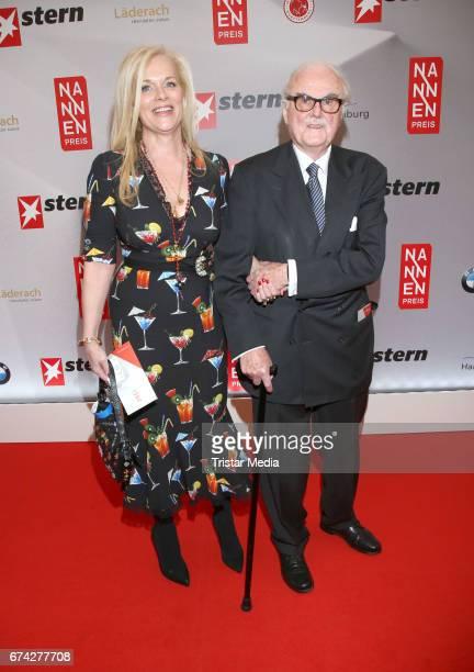 Anke Degenhardt and FCGundlach during the Henri Nannen Award red carpet arrivals on April 27 2017 in Hamburg Germany