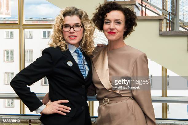 Anke Engelke and Maria Schrader attend the 'Deutschland 86' photo call at Stasimuseum on December 4 2017 in Berlin Germany