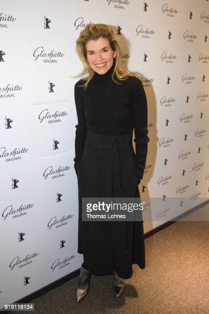 Anke Engelke attends the Glashuette Original Lounge at The 68th Berlinale International Film Festival at Grand Hyatt Hotel on February 16 2018 in...