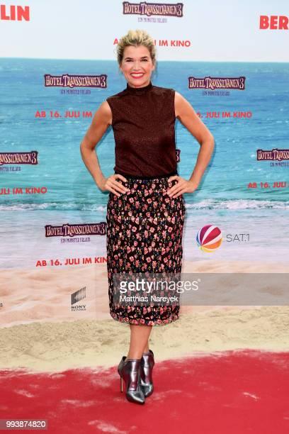 Anke Engelke attends the 'Hotel Transsilvanien 3' premiere at CineStar on July 8 2018 in Berlin Germany