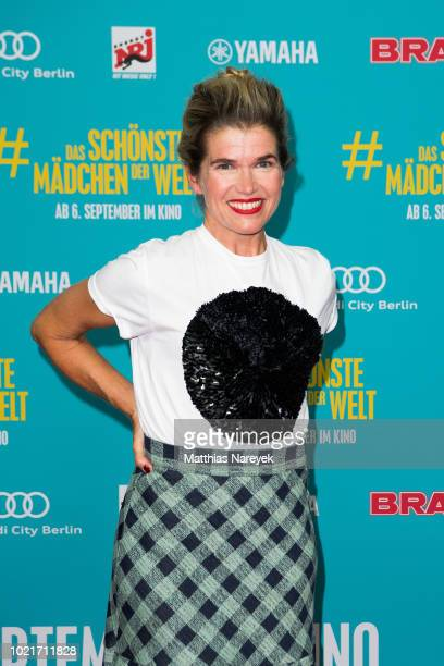 Anke Engelke attends the Premiere of 'Das schoenste Maedchen der Welt' at Cubix Alexanderplatz on August 22 2018 in Berlin Germany