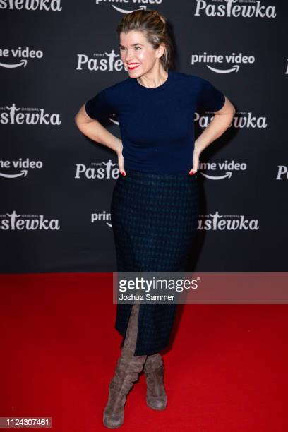 Anke Engelke attends the premiere of the Amazon series 'PASTEWKA' at Cinedom on January 23 2019 in Cologne Germany