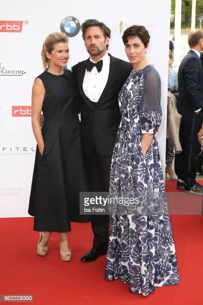 Anke Engelke Benjamin Sadler Nina Kunzendorf attend the Lola German Film Award red carpet at Messe Berlin on April 27 2018 in Berlin Germany