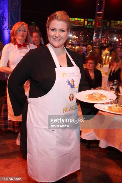 Anke Harnack during the Palazzo by Cornelia Poletto charity event on February 7, 2019 in Hamburg, Germany.
